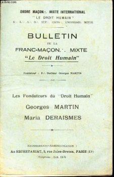 Bulletin de Le Droit Humain sin fecha